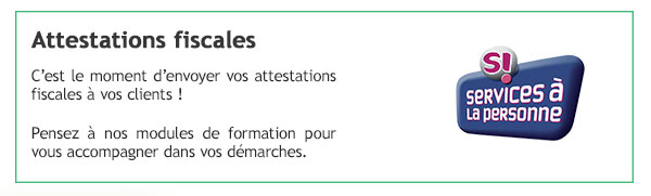 Attestations fiscales