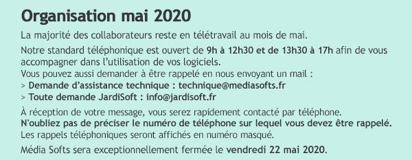 Organisation mai 2020